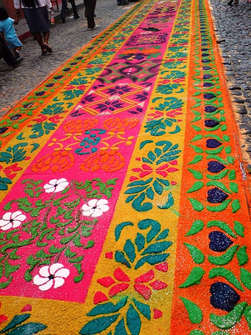 Floral patterns of Sand Carpet