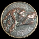Figurative Dog Head. Antique Bachelor Button