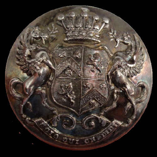 Livery Button. Pegasus Winged Horse Supporters Milnes + Baron Houghton
