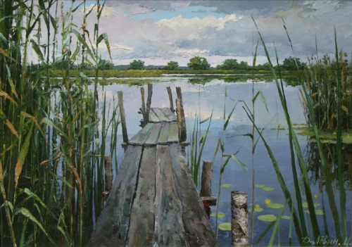 Landscape painter Dmitry Levin. At the lake