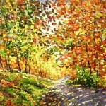 Autumn palette. Oil on canvas. Painting by Moscow based artist Evgeny Gavlin