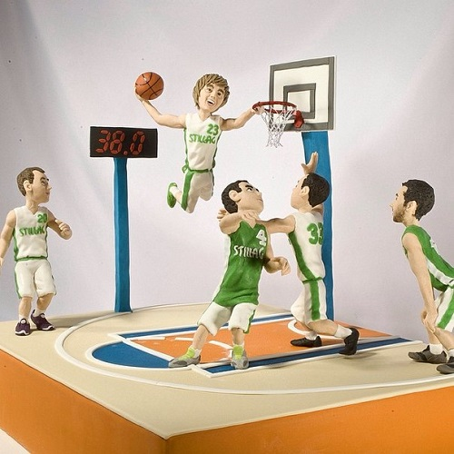 Basketball game. Artful Bakery cakes by St. Petersburg based food artist Vladimir Sizov