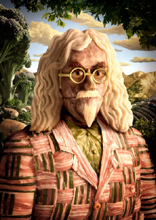 Billy Connolly. Food artist Carl Warner
