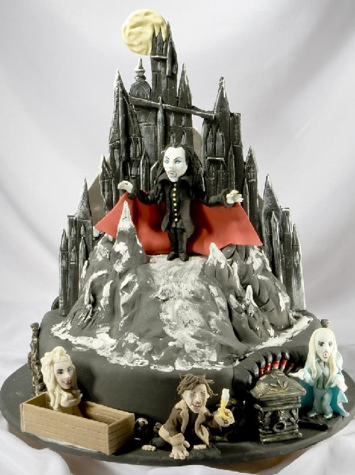 Birthday cake on Vampire Ball production. Artful Bakery cakes by Vladimir Sizov