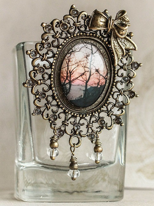 Photo in jewelry by Alexandra Goloviznina. Brooch At sunset