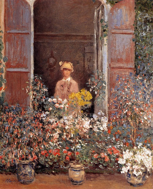Why Claude Monet destroyed his paintings. Camille at the window in 1873, private collection