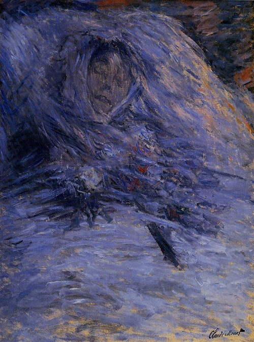 Why Claude Monet destroyed his paintings. Camille on her deathbed