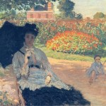 Camille on the garden bench 1875