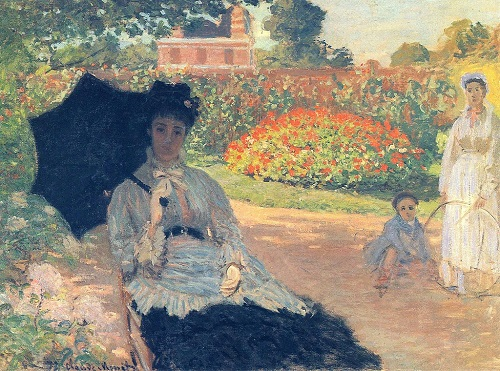 Why Claude Monet destroyed his paintings. Camille on the garden bench 1875