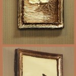 Beautiful framed paintings, all made of chocolate