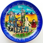 A family. Decorative plate
