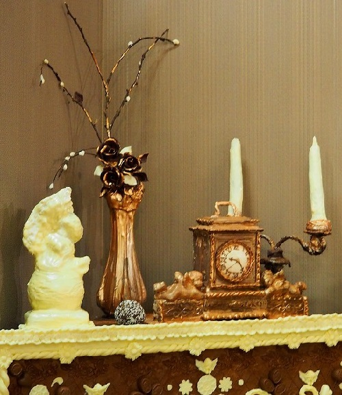 Amazing details of chocolate room interior