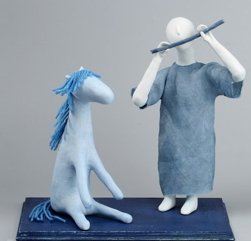 Ceramic art composition by Moscow based artist Natalia Dobrzhanskaya