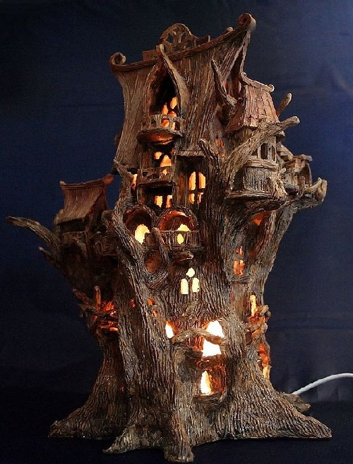 Elven tree-palace 'Loriel'. night light