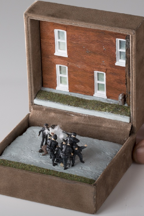 Execution Of Michael Brown. 2014. TALWST miniature sculpture
