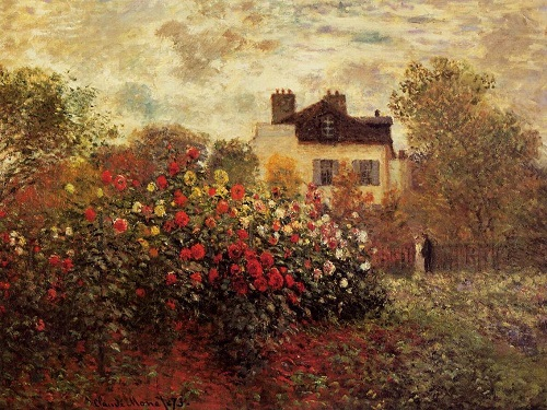 Why Claude Monet destroyed his paintings. Garden in Argenteuil (Dahlia). 1873. National Gallery of painting. Washington