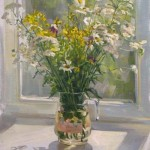 July flowers. Painting by Kaluga based artist Viktoria Kharchenko