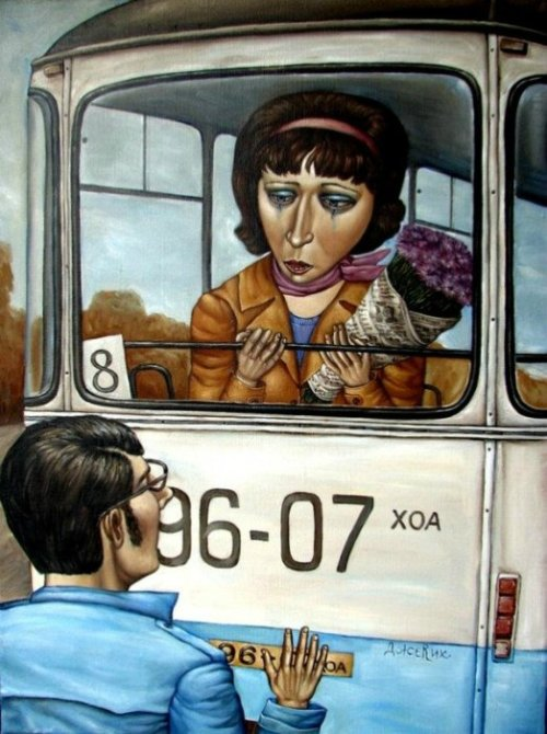 Life in USSR in painting by Angela Dzherikh