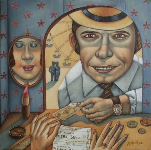 Life in USSR. Painting by Angela Dzherikh