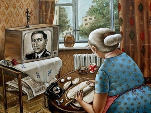 Life of people of the Soviet Union era. Artist Angela Dzherikh