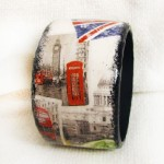 London Life. Maya Valit. Handmade bracelet in the decoupage technique