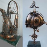 Sculptures made from metal. Work by Ukrainian artist Alisa Didkovskaya-Petrosyuk