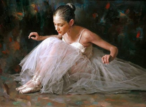 Moments of Ballet. Painting by Chinese artist Stephen Pan
