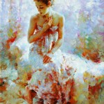 Ballerina. Painting by Chinese born artist Stephen Pan