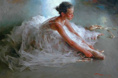 Moments of Ballet. Painting by Stephen Pan