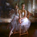 Reflections. Moments of Ballet. Work by Chinese painter Stephen Pan