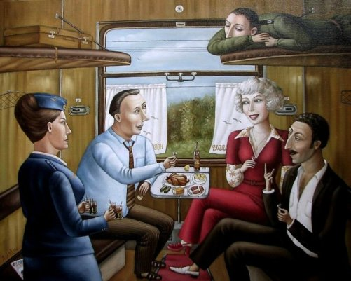 Nostalgic paintings about USSR by Angela Dzherikh