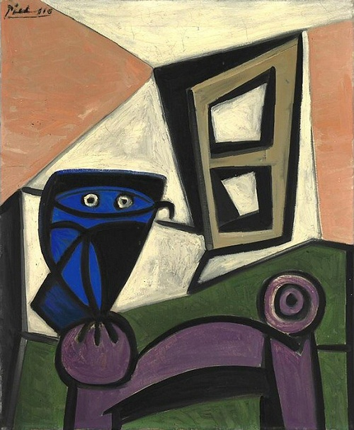 "1947 painting ""Owl on a chair 3"""