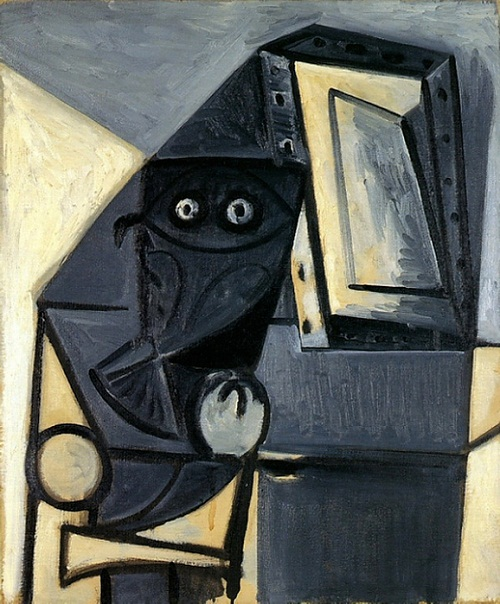 "Painting ""OWL on a chair 4"". 194"