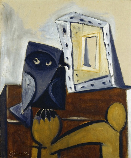 "Painting by Pablo Picasso ""OWL on a chair 5"". 1947"