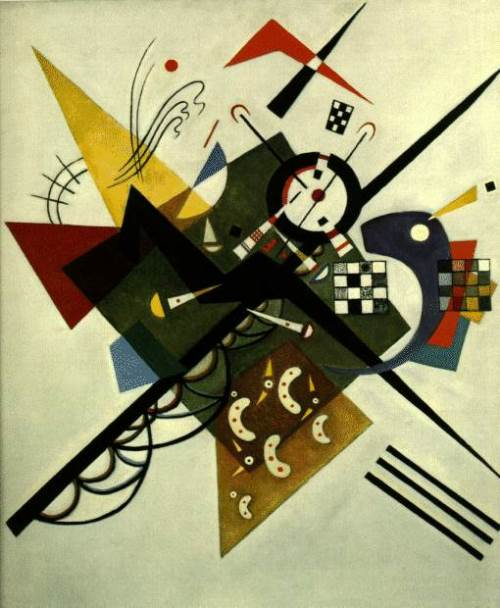 On white.  1923. Russian painter Wassily Kandinsky
