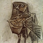 "1952 painting ""Owl, the messenger of death"""