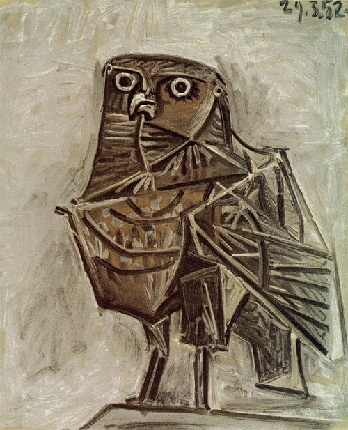 Owl, the messenger of death. 1952