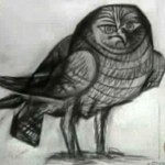 "Drawing by Pablo Picasso ""Owl"""