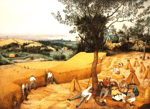 The Dutch have created Holland - Bruegel. Painting by Pieter Bruegel the Elder 'Harvest'
