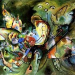 "1917 Painting by Wassily Kandinsky ""Vague"""
