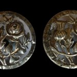 Pair of Antique Vintage silver hallmarked buttons 1900 London