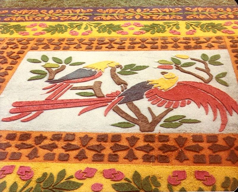 Part of a carpet made for Holy Week in Antigua Guatemala (wikipedia)
