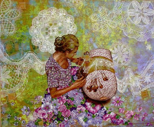 Patchwork art by Sandra Freitas