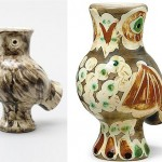 Examples of vases, created by the master. Picasso Owl ceramics