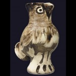 Amazing ceramics with the image of an owl, work by Pablo Picasso