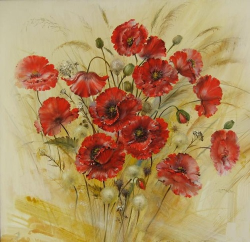 Poppies. Oil on canvas, 2007