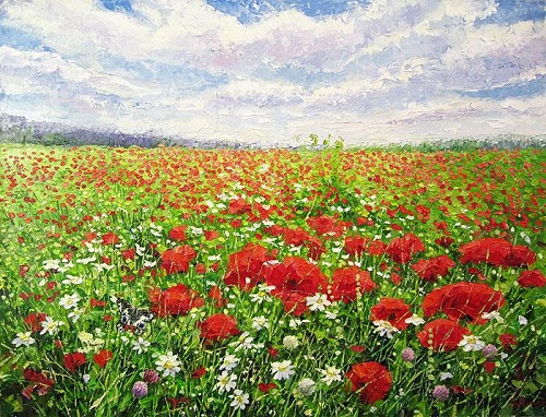 Poppies. Painting by Evgeny Gavlin