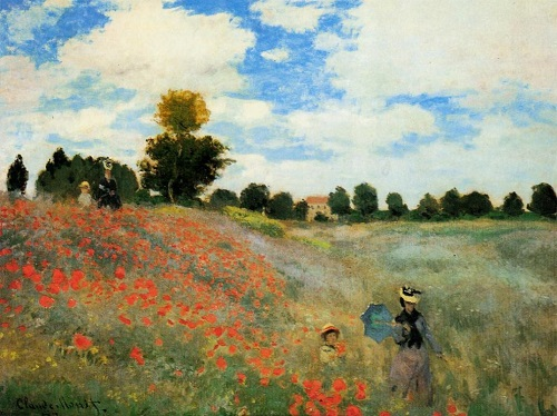 Why Claude Monet destroyed his paintings. Poppy Field in Argenteuil 1873