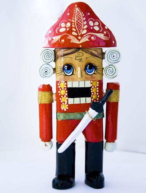 'Nutcracker', handmade, carved from linden, painted with paints and varnished