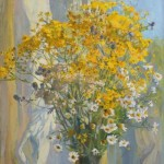 Smell of summer. Oil on canvas. Painting by Kaluga based artist Viktoria Kharchenko